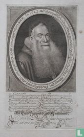 Johannes Hochedaeus a Vinea, ministerio gallice functus An, LI Antwerp: XV Amstelod: XXXVI. aetatis, cum pingeretur, LXVIII. cum sculperetur LXXX Ano 1622.