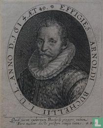 EFFIGIES ARNOLDI BUCHELII I.U.L. ANNO D. 1614. AET 49.