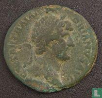 Romeinse Rijk, AE As, 117-138 AD, Hadrianus, Rome, 121-122 AD