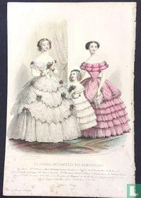 Toilettes Mme Ve. Perret Collard; Deux femmes et une fille (1850-1853) - 387