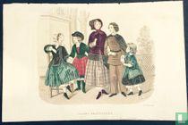 Parents et 3 enfants - Décembre 1849