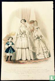 Toilettes Mme Ve. Perret Collard; Deux femmes, un garcon et une jeune fille(1850-1853) - 390