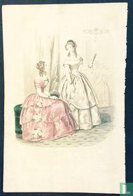 Deux jeunes femmes au salon - 1850-1853
