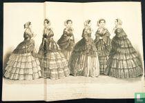 Étoffes pour robes et confections nouvelles pour le Printemps de 1854