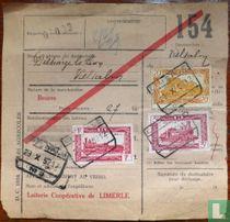Ontvangsbewijs Belgische Spoorwegen 'Delhaize Le Lion'