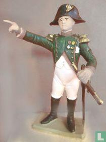 Napoleon in jagers uniform met veldkijker