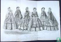 Étoffes et confections, Mode pour la saison d'hiver 1854-55