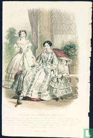 Modes d'Alexandrine; Deux femmes et une fille - (1850-1855) - 370
