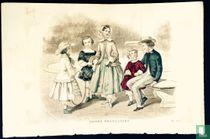 Cinq enfants au jardin - Mai 1850