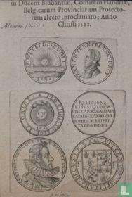 3 munten van Frans van Anjou (1555-1584)