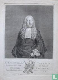 Mr. EGBERT DE VRY TEMMINCK, BURGEMEESTER EN RAAD DER STAD AMSTERDAM, Bewindhebber der Oost-indische Compagnie enz.