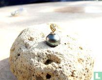 Perle de Tahiti 10,1mm montée OR 18 carats