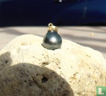 Pendentif perle de tahiti 12mm et or 18 carats