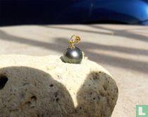 Pendentif Or 18 carats et perle de Tahiti 10,5mm