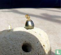Perle de Tahiti 12,5mm montée avec Or 18