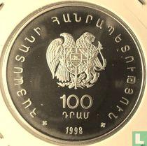 "Armenien 100 Dram 1998 (PP) ""WWF - Armenian silver seagull"""