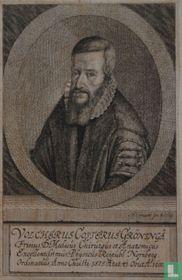 VOLCHERUS COSTERUS GRONINGA Frisius D. Medicus Chirurgus et Anatomicus Excellentissimus, Physicus Reipubl Noriberg Ordinarius, Anno Christi. i575. Aetat. 41. Obiit Ao. 1600.