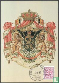 Ziffer auf heraldischem Löwen
