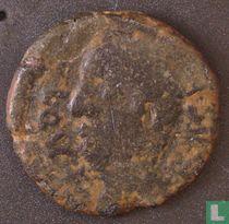 Romeinse Rijk, AE As, 1e eeuw BC, Onbekend heerser, Castulo, Hispania