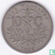 Bolivia 10 centavos 1936
