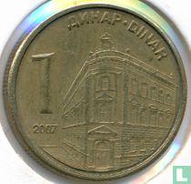 Servië 1 dinar 2007