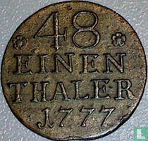 Pruisen 1/48 thaler 1777