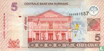 Suriname 5 Dollar 2004