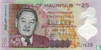 Mauritius 25 Rupees 2013