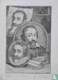 Portretten van Johann I (1550-1600), Rafael (ca. 1560 - ca. 1632) en Aegidius Sadeler (ca. 1555 - ca. 1609)