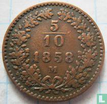 Austria 5/10 kreuzer 1858 (M)