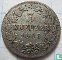 Beieren 3 kreuzer 1865