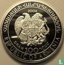 """Armenia 100 dram 2004 (PROOF) """"2006 Football World Cup in Germany"""""""