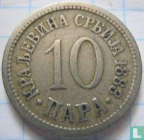 Servië 10 para 1883