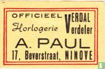 Verdal verdeler A. Paul