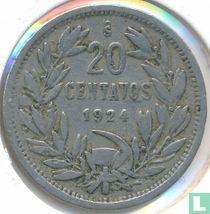 Chili 20 centavos 1924