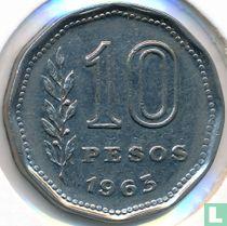 Argentinië 10 pesos 1963
