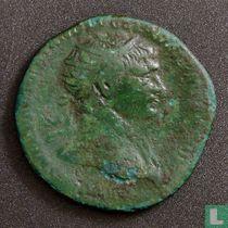 Romeinse rijk, AE Dupondius, 98-117 AD, Trajanus, Rome, 105-111 AD