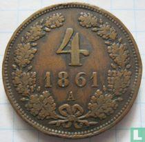 Austria 4 kreuzer 1861 (A)