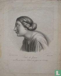 Etude de femme du Poussin dans le Tableau du départ de Coriolan.