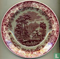 Dinerbord Ø 19 cm - Amazone rood