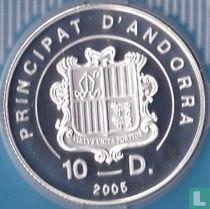 "Andorra 10 diners 2005 (PROOF) ""2006 Winter Olympics in Torino"""