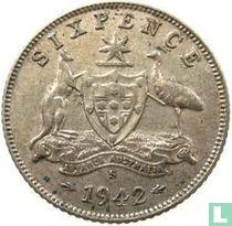 Australië 6 pence 1942 (S)