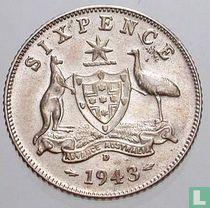 Australië 6 pence 1943 (D)