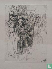 Middeleeuws historiestuk met Filips de Goede (1396-1467)