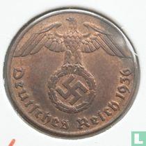 Duitse Rijk 1 reichspfennig 1936 (hakenkruis - A)