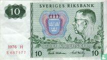 Schweden 10 Kronor 1976