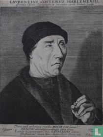 LAURENTIUS COSTERUS HARLEMENSIS. Primus Artis Tijpographicae Inventor circa Annum 1440.