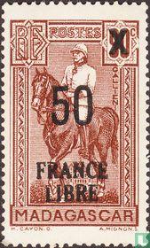 General Galliéni, with overprint