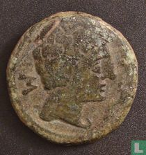 Romeinse Rijk, AE As, 2e/1ste eeuw BC, Onbekend heerser, Bilbilis, Hispania Tarraconensis