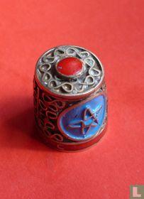Blue Star Red design
